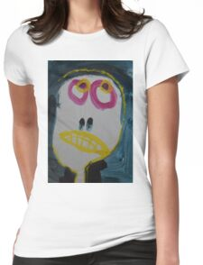 Elisabeth - Graphic Portrait In Acrylic Womens Fitted T-Shirt