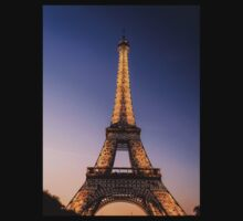 Eiffel Tower and sunset (2) Baby Tee