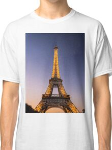 Eiffel Tower and sunset (2) Classic T-Shirt