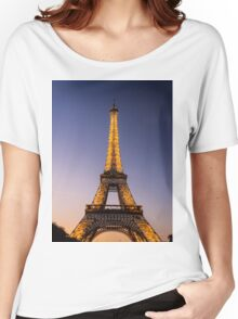 Eiffel Tower and sunset (2) Women's Relaxed Fit T-Shirt