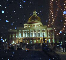 Massachusetts State House by David Davies