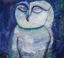 Mixed Media: Owl by Marion Chapman
