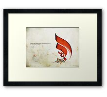 Arabic Calligraphy - Rumi - Lovers Framed Print