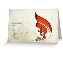 Arabic Calligraphy - Rumi - Lovers Greeting Card