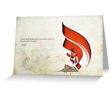 Arabic Calligraphy - Rumi - Lovers Greeting Card