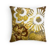 Warm Earth Floral Pattern Version 1 (see description) Throw Pillow