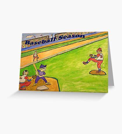 Baseball Season Greeting Card