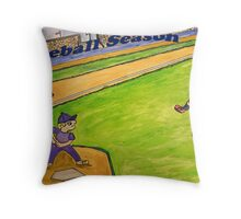 Baseball Season Throw Pillow