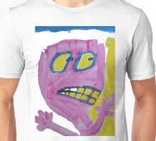 Toby - Pink Graphic Face Unisex T-Shirt