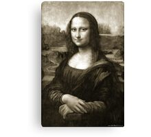 Dithering Mona Lisa Canvas Print