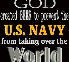 God, Beer & the U. S. Navy for Dark Backgrounds by MGR Productions