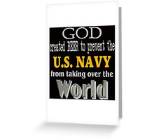 God, Beer & the U. S. Navy for Dark Backgrounds Greeting Card