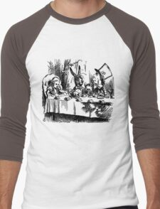 The Mad Hatter's Tea Party Men's Baseball ¾ T-Shirt