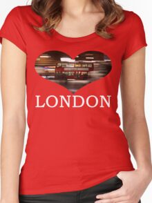 London Bus Women's Fitted Scoop T-Shirt