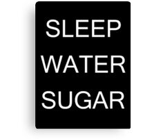 Sleep Water Sugar Canvas Print
