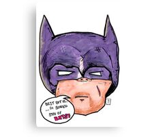 Scaredy Bat Canvas Print