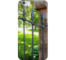 Old chuch cast iron iPhone Case/Skin