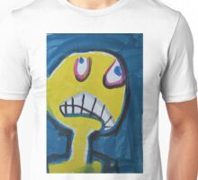 Troy - Graphic Yellow Face With Blue Background Unisex T-Shirt