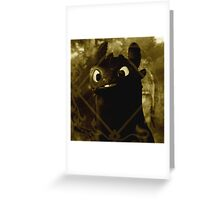Toothless the night fury Greeting Card