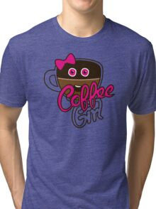 Cute Coffee GirlAddict Tri-blend T-Shirt
