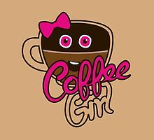 Cute Coffee GirlAddict by XOOXOO