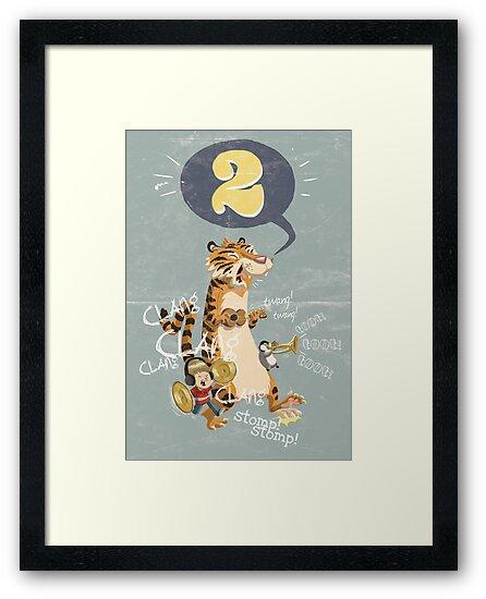 2 (birthday card/invite) by Douglas Holgate