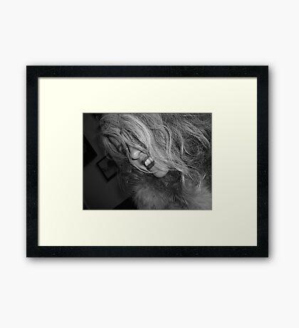 Rare Photographic Evidence of Margaret's Smile Framed Print