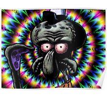 Carlos the grumpy calamar Poster