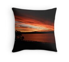 Gorgeous Sunset over Lake Macquarie Throw Pillow