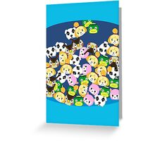 Animal Crossing New Leaf Tsum Tsums Greeting Card
