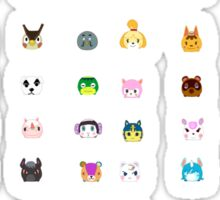 Animal Crossing New Leaf Tsum Pattern Sticker