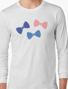 Vintage Pastel Bows Long Sleeve T-Shirt