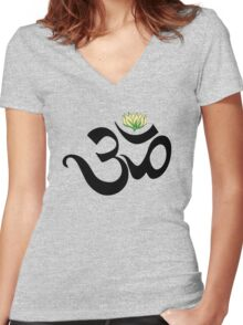 Om Women's Fitted V-Neck T-Shirt