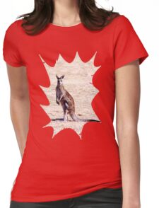 Kangaroo Watching Womens Fitted T-Shirt