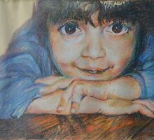 Pensive - A Portrait Of A Boy by Nancy Mauerman