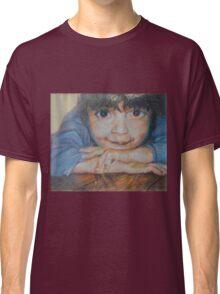 Pensive - A Portrait Of A Boy Classic T-Shirt