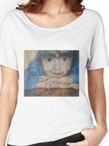 Pensive - A Portrait Of A Boy Women's Relaxed Fit T-Shirt