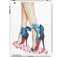 Blue Bow Louboutins iPad Case/Skin