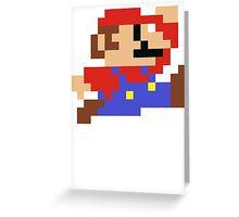 8-Bit Mario Nintendo Jumping Greeting Card
