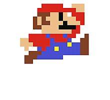 8-Bit Mario Nintendo Jumping Photographic Print