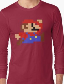 8-Bit Mario Nintendo Jumping Long Sleeve T-Shirt