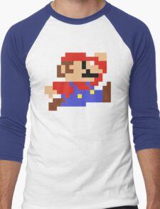 8-Bit Mario Nintendo Jumping Men's Baseball ¾ T-Shirt