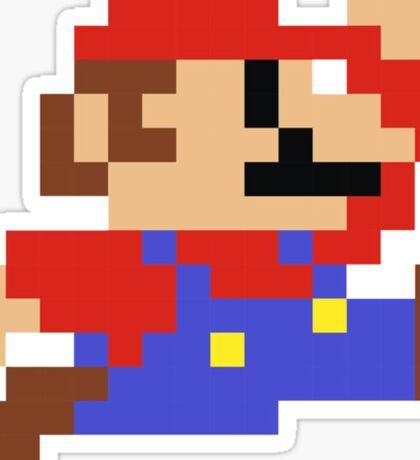 8-Bit Mario Nintendo Jumping Sticker