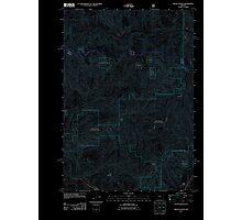 USGS Topo Map Oregon Mount Hagan 20110721 TM Inverted Photographic Print