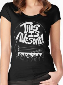 Wrestling Is Awesome Women's Fitted Scoop T-Shirt