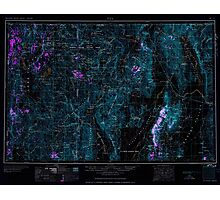 USGS Topo Map Nevada Vya 321790 1958 250000 Inverted Photographic Print