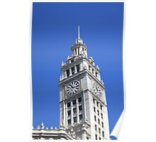 Chicago Clocktower Poster