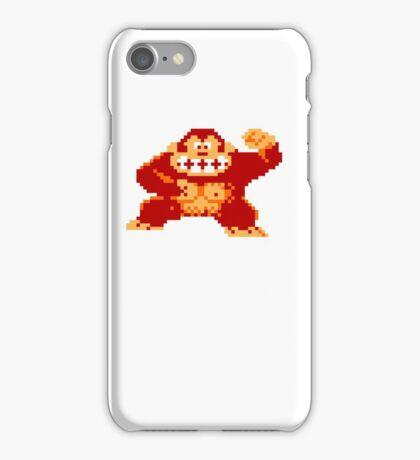 8-Bit Nintendo Donkey Kong Gorilla iPhone Case/Skin