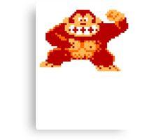 8-Bit Nintendo Donkey Kong Gorilla Canvas Print