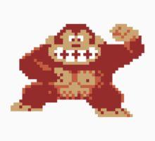 8-Bit Nintendo Donkey Kong Gorilla by astropop